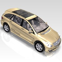 3d car mercedes r-class sports model
