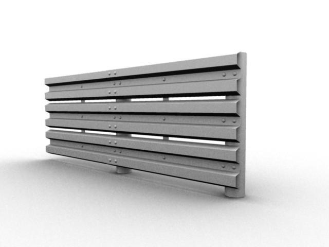 metal road barrier 3d model