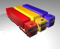 3d cargo truck