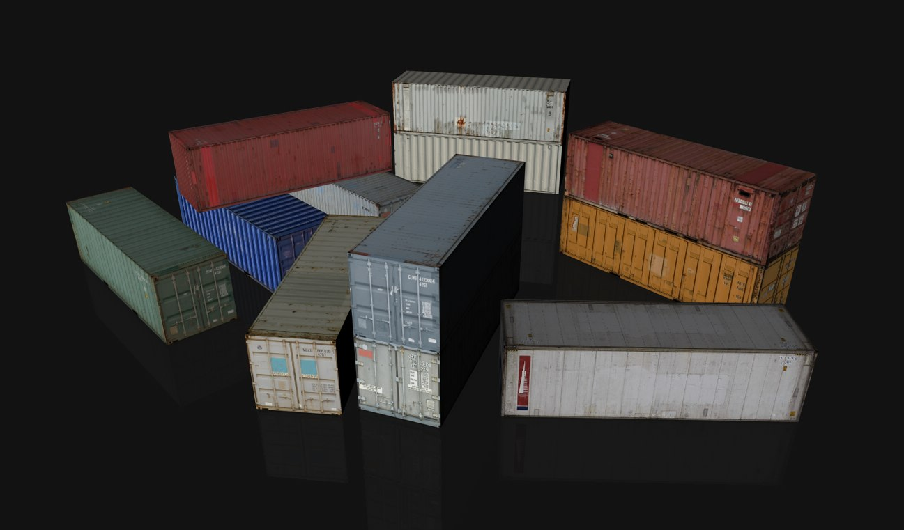 c4d shipping containers 12
