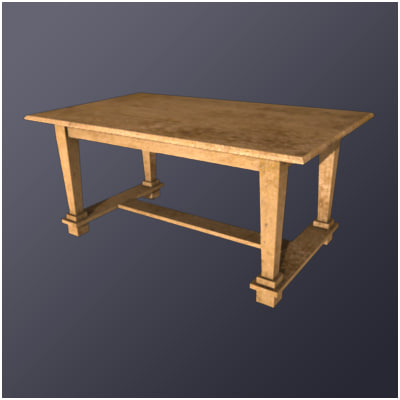 medieval table 3d 3ds