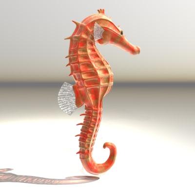 maya transparent seahorse