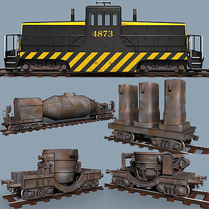 3d steel train