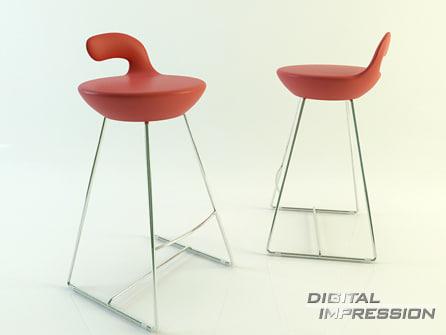 3d place chair model
