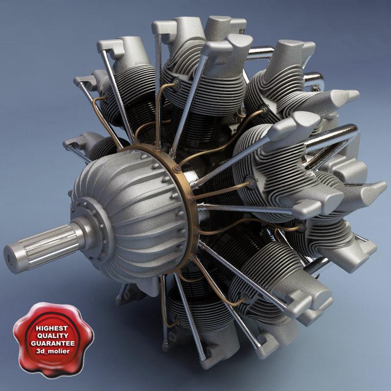Twin Row-14 WASP Jr (Radial Engine)