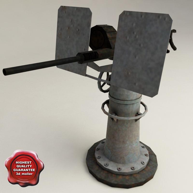 3d uss drum anti-aircraft guns