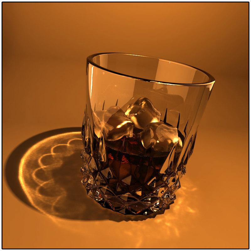 scotch glass drink 3d obj