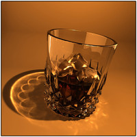 scotch glass drink 3d obj