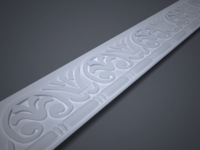 3d model of decorative lath