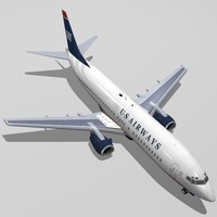 3d b 737-400 airways model