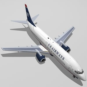 3d b 737-400 airways model