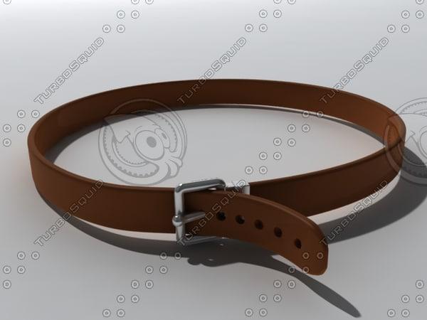 3d model brown belt