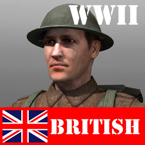 3d model of soldier british lee