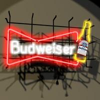 Bud Neon Sign 01