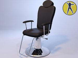 chair hair 3d model