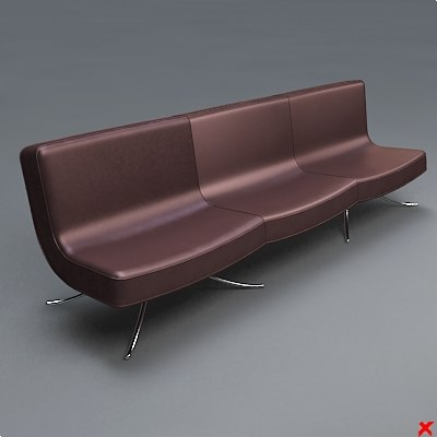 chair waiting 3d max