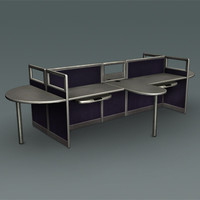 modern design office table 3d model