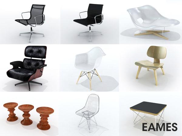 3d eames furniture