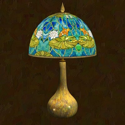 3d model tiffany lamp