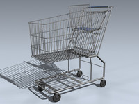 grocery cart 3d 3ds