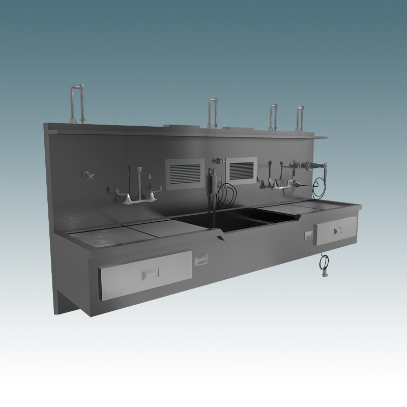 3ds max medical science lab sink