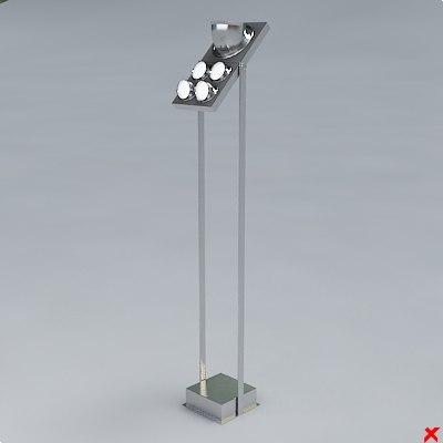 3d model of lamp standing