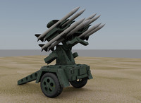 surface air missile launcher 3d model