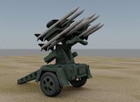 surface air missile launcher 3d model