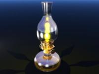 3d model oil lamp