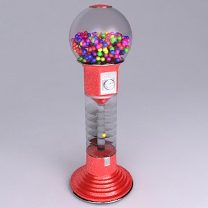 3d model of giant spiral gumball machine