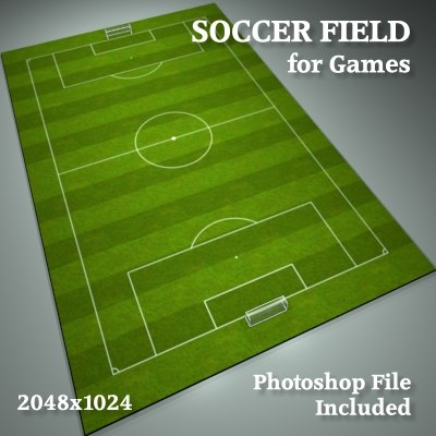professional soccer field obj