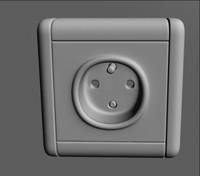wall power socket obj free