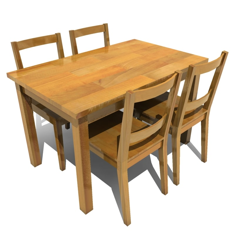 Dining table chairs d model