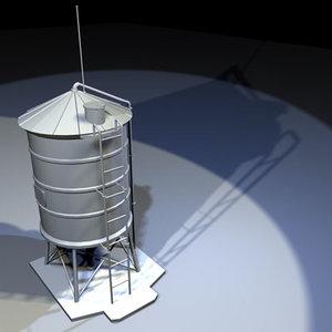 roof water tank 02 3d model