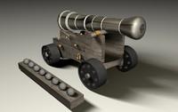 3d o clock gun model