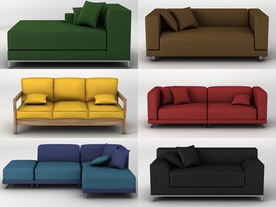 3d sofas pack model