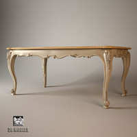 3ds max dining table louis