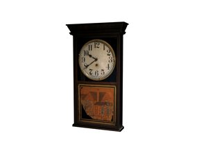 free max model antique clock wall