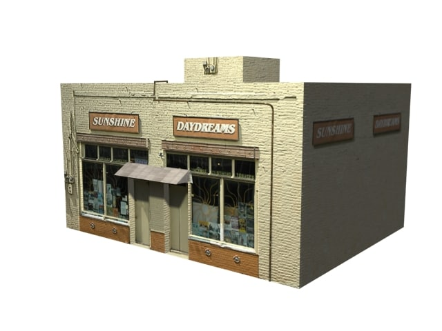 3d small retail store
