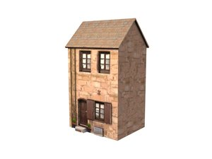 3d small german home model