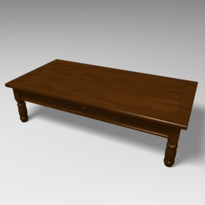 3d model wood coffee table