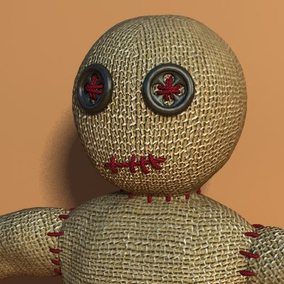 3d model voodoo doll woodoo