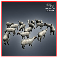 3ds max sheep herd