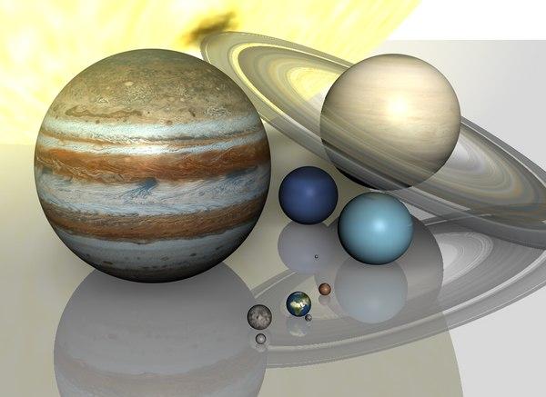 3d hi resolution planetary solar model