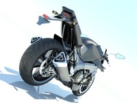3ds max motorcycle concept