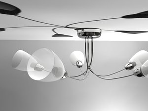 3dsmax chrome light fixture