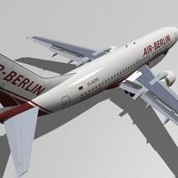 b 737-300 air berlin 3d model