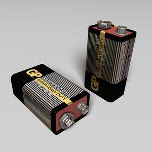 battery gp 9v 3d model