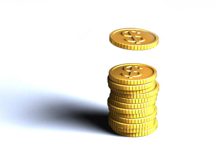 3d model coins