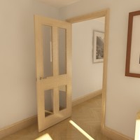 3d panel glazed door